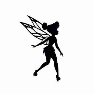 Disney Fairie Tinkerbell Silhouette cut out Iron on