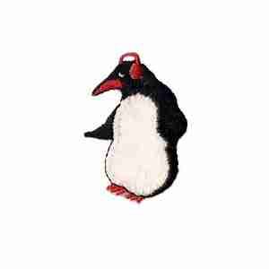 Christmas Penguin with Earmuffs Iron On Patch Applique