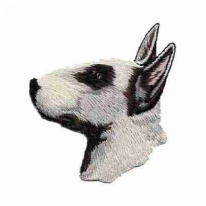Dogs - Bull Terrier Iron On Patch
