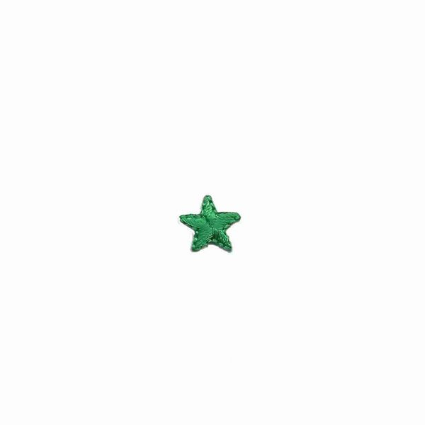 .5 Inch Star Patches in GREEN Iron On Patch