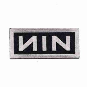 "Nine Inch Nails ""NIN"" Iron on Patch Applique"