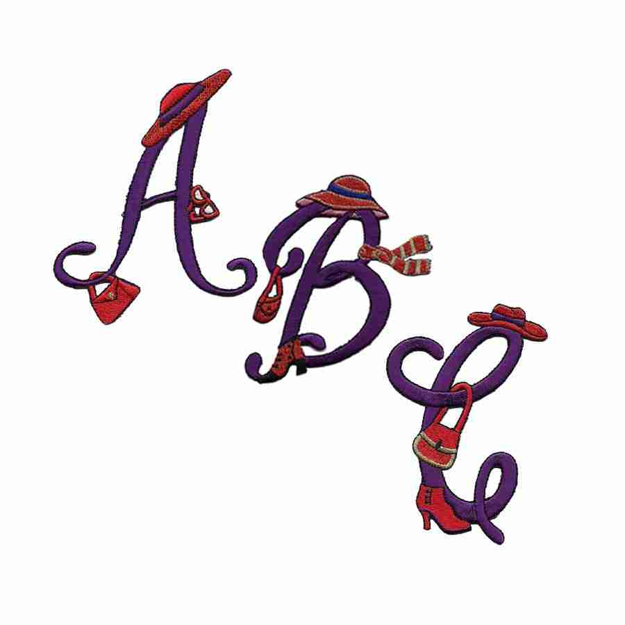 7d8561c14 Letters - Red Hat Lady Iron On Embroidered Script Letter Initials/Monograms  - Sold Separately