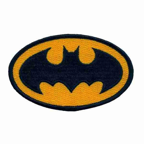Batman Logo Iron On Patch Small Laughing Lizards