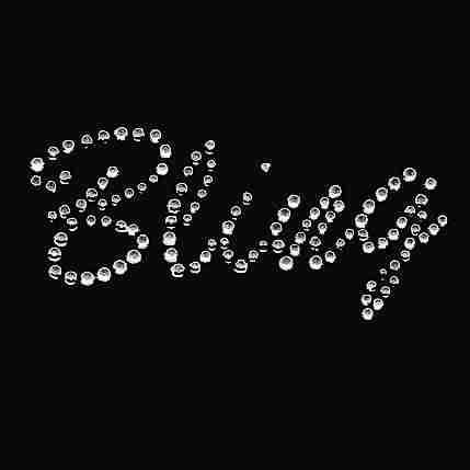 """Bling"" in Large Clear iron on Rhinestones Applique"
