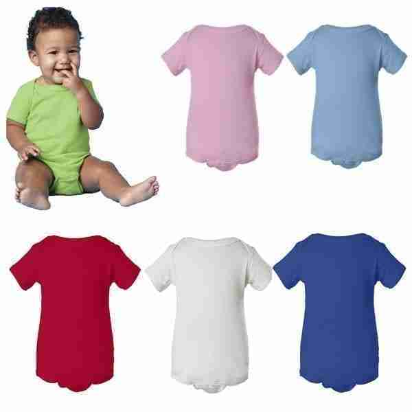 A) Infant Cotton Onesie Snap Blank Creeper NB - 24m