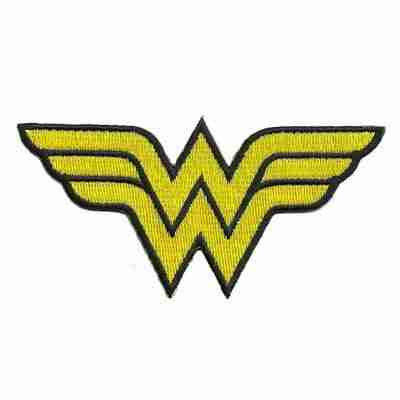 """Wonder Woman Logo 2""""H Iron on Patch Applique - LIMITED"""