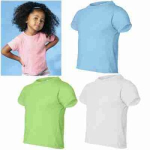 B) Toddlers Cotton Blank T-shirts 2T-4T