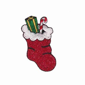 Red Christmas Stocking Patch