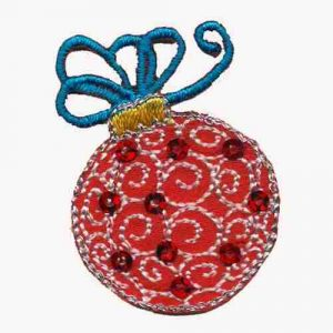 Christmas Ornament with Sequins Iron on Patch Applique