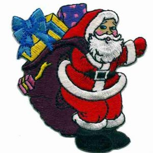 Christmas Santa Claus with Bag of Presents Applique