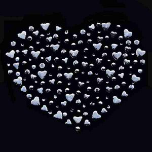 Hearts of Hearts Rhinestone Hotfix Applique