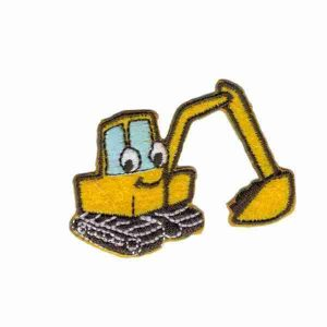 Backhoe Children's Iron on Applique Patch