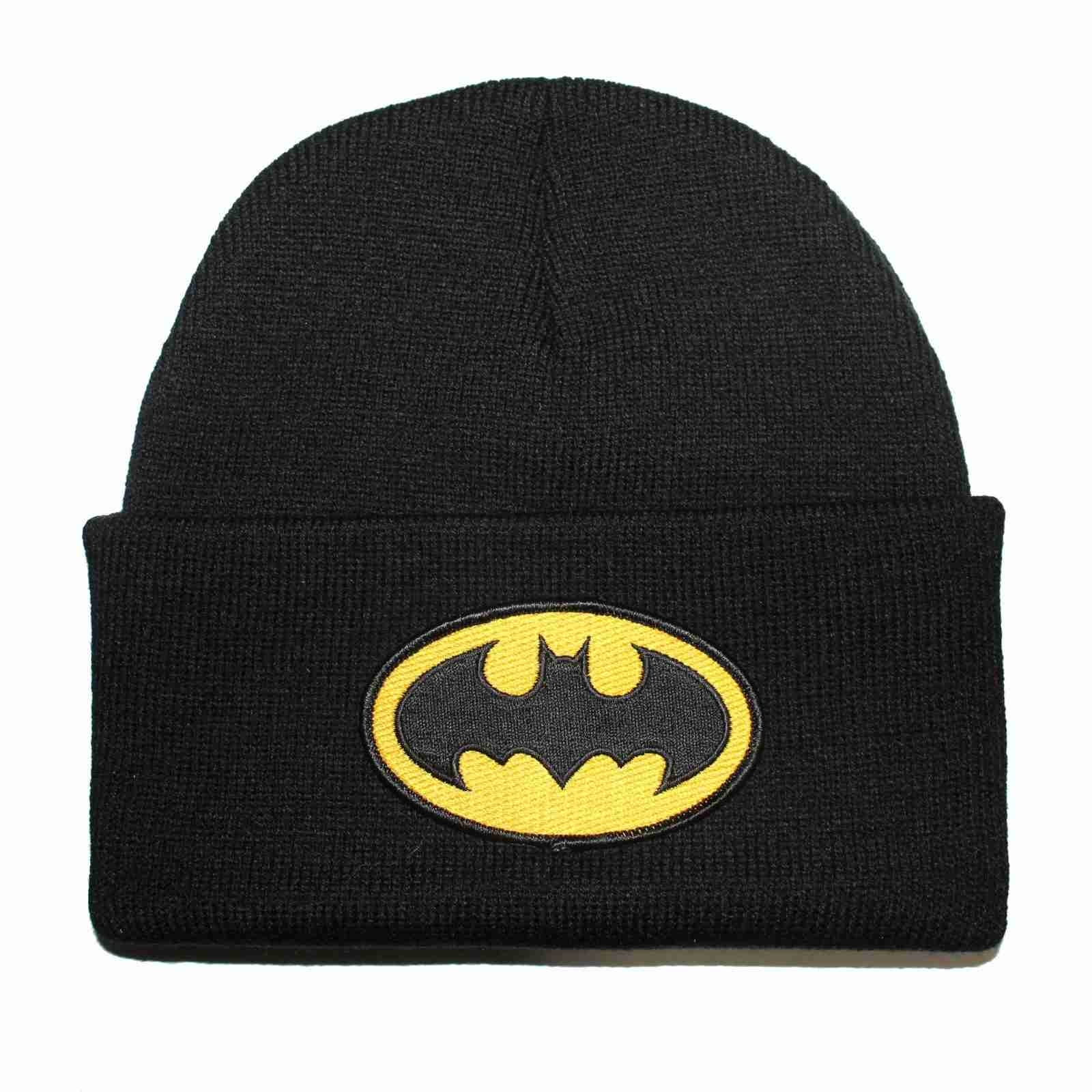 Batman Beanie Cap with Black and yellow traditional Logo a8bcaf0af8a
