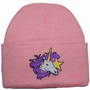 Spring Breakers Pink Unicorn Knit Beanie Cap
