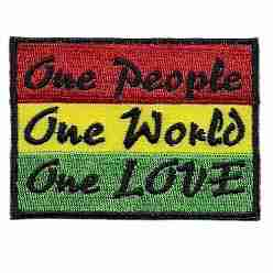 One People One World One Love Rasta Patch