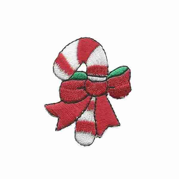 Candy Cane Iron on Patch Holiday Applique
