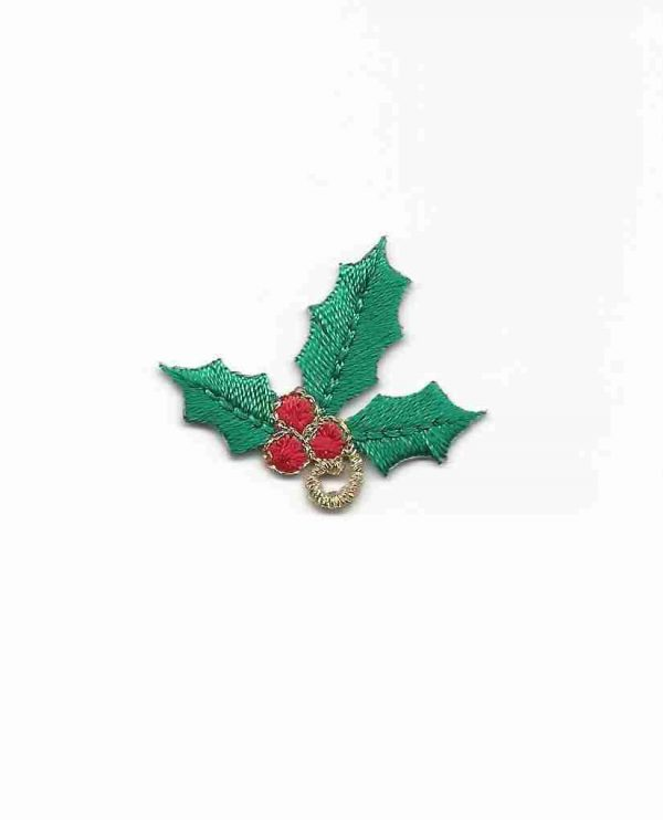 Christmas Holly Iron on Applique