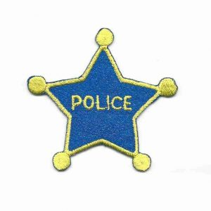 Childrens Police Star Badge Patch