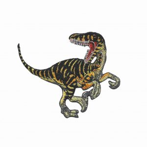 Velociraptor Iron on Embroidered Dinosaur Patch