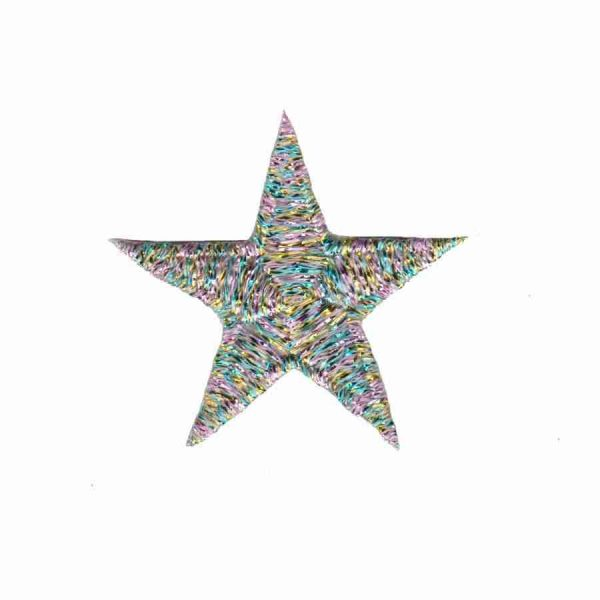Metallic Multicolored Star Patches
