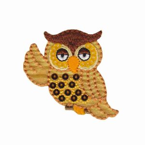 Shimmering Owl Iron on Patch Applique