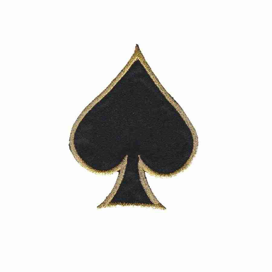card suit symbols spade iron on patch applique