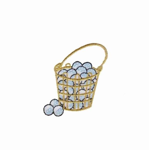 Golf - Golf Balls Basket Iron On Patch