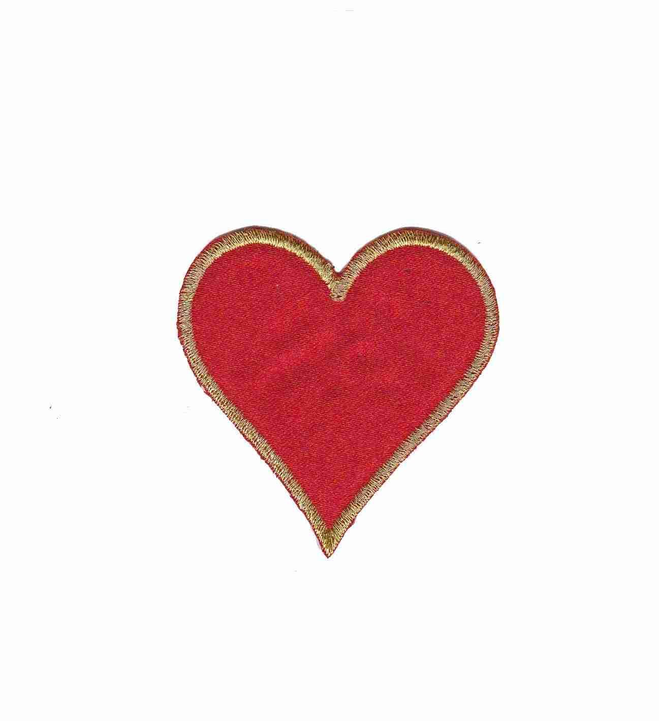 card suit symbols heart iron on patch applique