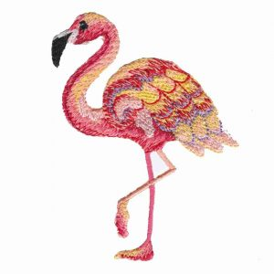 Multi-colored Flamingo Patch Applique