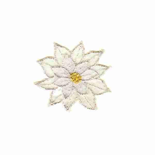 Christmas Sparkly Layered White Poinsettia