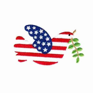 Patriotic Dove of Peace Iron On Applique