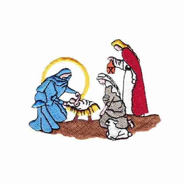 Christmas Nativity Scene Iron on Applique