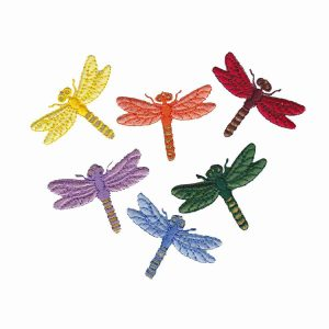 Dragonfly Embroidered Iron On Patch Appliques