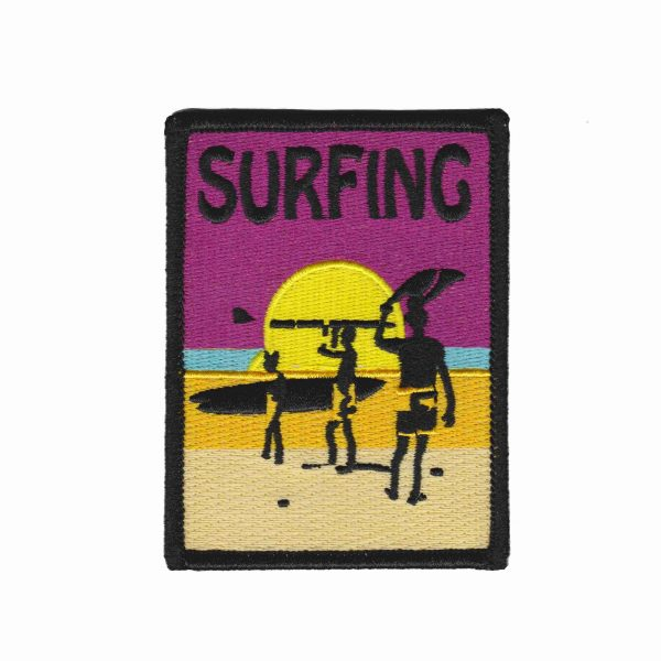 Iron on Patch Surfing Endless Summer Fun | LaughingLizards.com