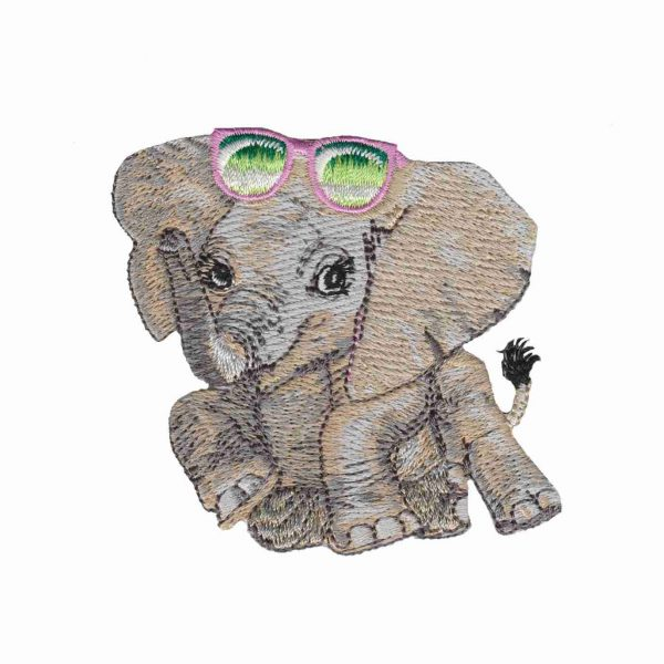 Iron on Patch Animal Elephant Cute | LaughingLizards.com