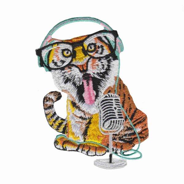 Iron on Patch Animal Tiger Cartoon | LaughingLizards.com