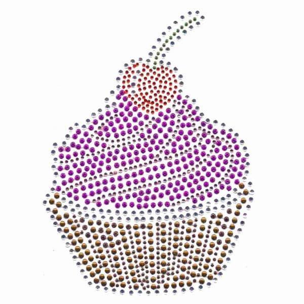 Rhinestone Cupcake HotFix Design