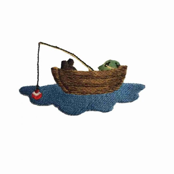 Fishing - Fisherman in a Boat Patch