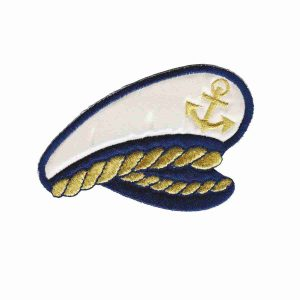captains hat nautical patch
