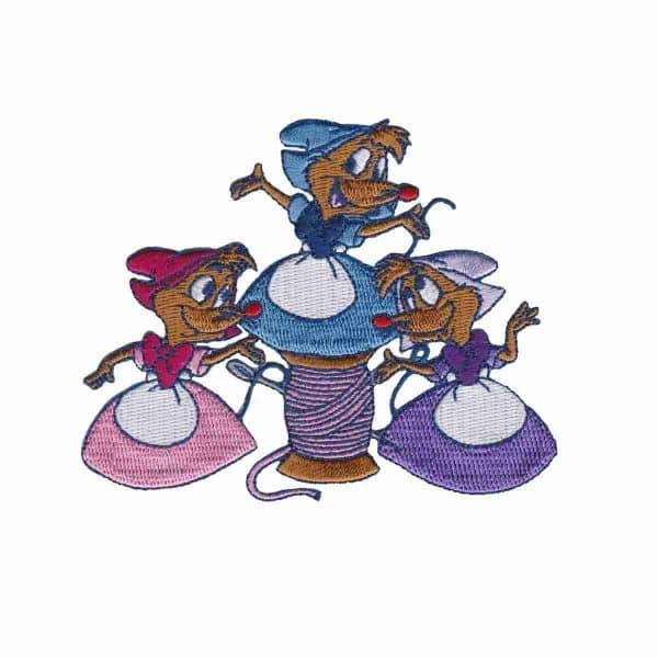 Cinderellas Mice Disney Patch