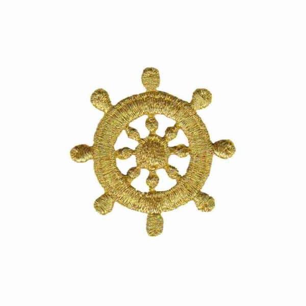 Gold Ship's Wheel