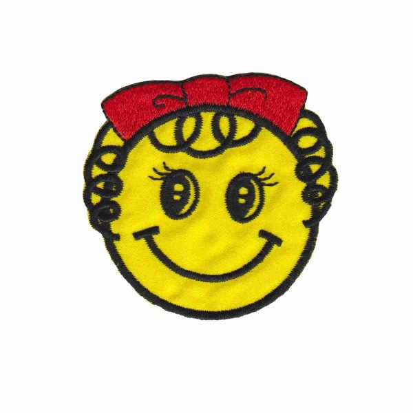 Girl Smiley Face Patch